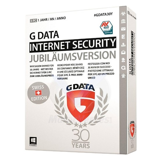 G Data Internet Security 2016 3 Postes 1 an 71233/GDATA/IS/3P/1A