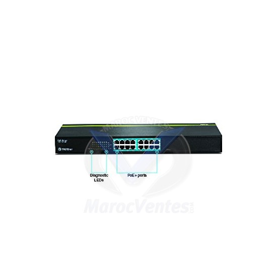 Trendnet Switch 16 ports 10/100 PoE TPE-T160