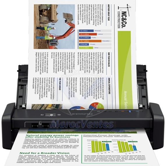 Scanner portable WorkForce DS-360W avec Wi-Fi et batterie B11B242401