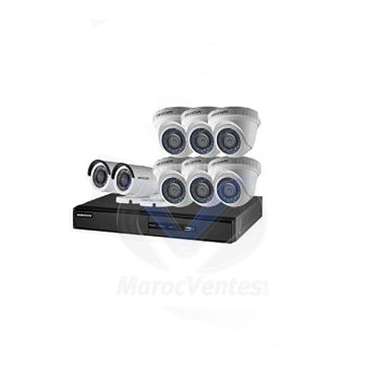 DVR 8 CH + 6 CAMERA MINI DOME + 2 CAMERA BULLET Turbo HD Pack 8 Turbo