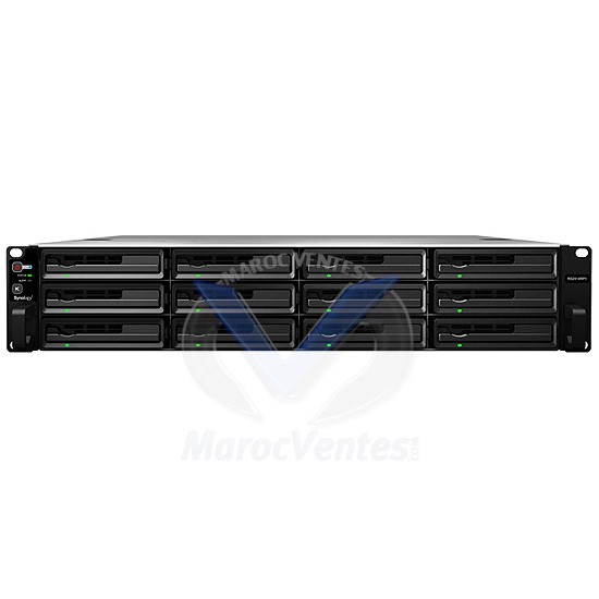 Serveur NAS de Haute Performance 12 Baies  Dual Core 2.13 Ghz  2 Go Ram 4 LAN Gigabit RS2414+