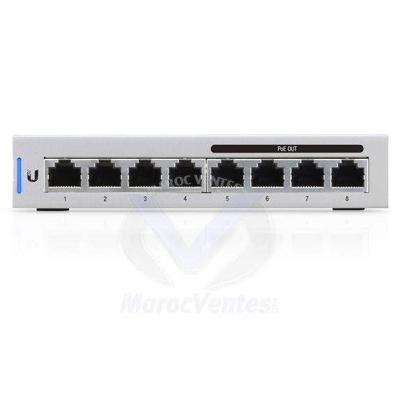 Switch géré UniFi 8 ports Gigabit conforme à PoE US-8-60W