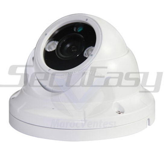 "Camera Dome Couleur Aluminium1/3"" HD digital sensor 900 TVL D1821"
